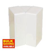 Manrose 45° Vertical Bend White 100mm