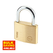 Yale Open Shackle Padlock Brass 50mm