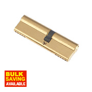 Century 5-Pin Euro Double Cylinder Lock 35-50 (85mm) Brass
