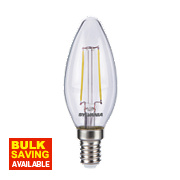 Sylvania Candle LED Lamp Clear SES 2.5W