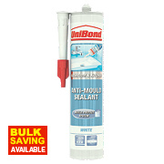 Unibond Anti Mould Sanitary Sealant Ice White 300ml