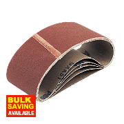 Cloth Sanding Belts Unpunched 75 x 457mm 80 Grit Pack of 5
