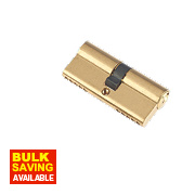 Century 5-Pin Euro Double Cylinder Lock 35-35 (70mm) Brass