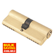 ERA 6-Pin Euro Cylinder Lock 40-40 (80mm) Brass