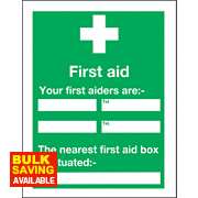 """Your First Aider"" Notice Sign 400 x 300mm"