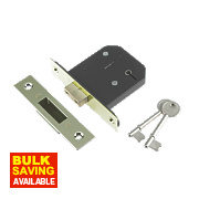 "Century 5-Lever Mortice Deadlock Brass Plated 3"" / 76mm"
