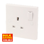 1-Gang 13A SP Switched Socket White