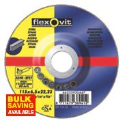 Flexovit Metal Grinding Discs 115 x 6 x 22.23mm Bore Pack of 5