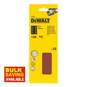 DeWalt 93 x 190mm 120 Grit 1/3 Sanding Sheets Pack of 10
