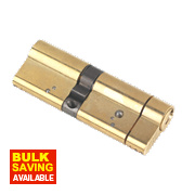 Yale Anti-Snap Euro Double Cylinder Lock 50-40 (90mm) Polished Brass