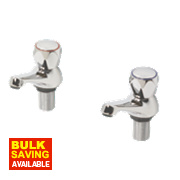 Swirl Contract Metal Head Bath Taps Chrome-Plated