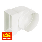 Manrose Elbow 90° Bend White 100mm