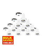 LAP Fixed Mains Volt. Fire Rated Downlight Contractor Pack White 240V Pk10