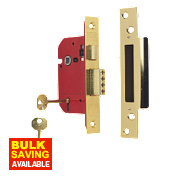 "ERA 5-Lever Mortice Sashlock Brass Effect 2½"" / 64mm"