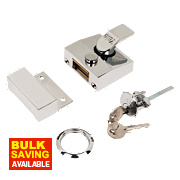 Yale 85 Narrow Night Latch Chrome-Plated 40mm Backset