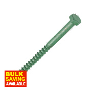 Timco In-Dex Exterior Coach Screws Organic Green 6 x 75mm Pk10