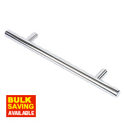 Fingertip Design T-Bar Cabinet Door Handle Polished Chrome 128mm