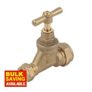 Brass Poly Stop Cock 15 x 20mm