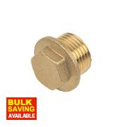 "Brass Flanged Plug ½"""