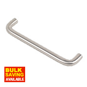 D Handle Stainless Steel 126mm