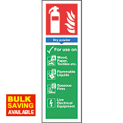 Nite Glo Dry Powder Extinguisher Sign 300 x 100mm