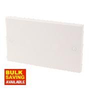 2-Gang Blanking Plate White