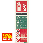 Nite Glo CO2 Extinguisher Sign 300 x 100mm