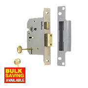 "ERA 5-Lever Mortice Sashlock Satin Nickel 3"" / 76mm"