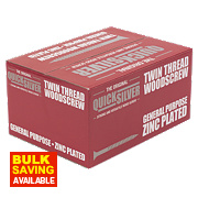 "Quicksilver Woodscrews Double-Countersunk 8ga x 2"" Pk1000"