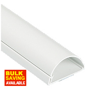 D-Line Wall-Mounted Trunking 50mm x 25mm x 1.5m White