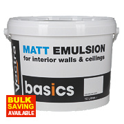 Matt Emulsion Paint Pure Brilliant White 10Ltr