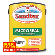 Sandtex Ultra Smooth Masonry Paint Pure Brilliant White 5Ltr