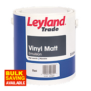 Leyland Trade Vinyl Matt Paint Vinyl Black 2.5Ltr
