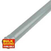 Single Socket Soil Pipe Grey