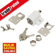 Securefast Patio Door Lock White