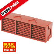 Terracotta Air Brick Terracotta 76mm x 229mm