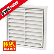 Manrose Fixed Louvre Vent White 140 x 140mm