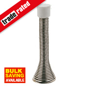 Cylinder Projection Door Stop Chrome-Plated Pack of 10
