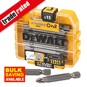 DeWalt Pozi Screwdriver Bit Box PZ#2 x 50mm 15Pcs