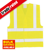 "Hi-Vis Waistcoat Yellow Small / Medium 47"" Chest"