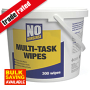 No Nonsense Multi-Task Wipes White Pack of 300