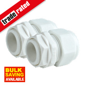 Tower Male Comp Gland White 25mm Pack of 2