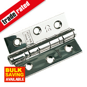 Ball Bearing Hinge Polished Stainless Steel 76 x 51mm Pack of 2