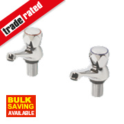 Swirl Contract Metal Head Bath Taps