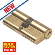 Union 6-Pin Euro Cylinder Lock 35-50 (85mm) Brass