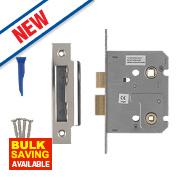 Smith & Locke Bathroom Mortice Lock Polished Chrome 76 x 22mm