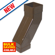 FloPlast Square Adjustable Offset Bend Brown 25-65mm