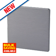 LAP 1-Gang Blank Plate Slate Effect