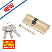 Smith & Locke 5-Pin Euro Double Cylinder Lock 35-45 (80mm) Brass