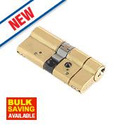 Yale AS Platinum Euro Cylinder 40-40 (80mm) Polished Brass